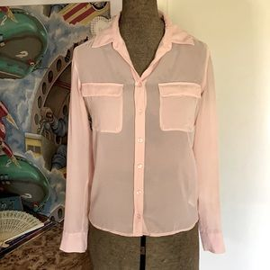 GUESS western style sheer blouse